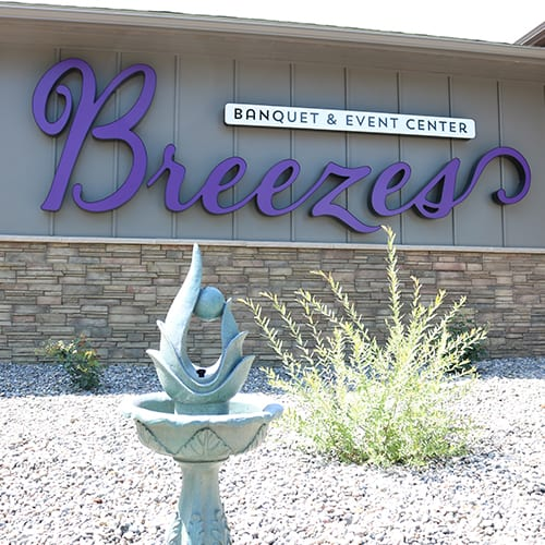 Breezes Banquet & Event Center Exterior Sign